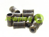 "Tip fluted ""Barrel"" plastiс antique, 7 mm* 12 mm, cord d= 4 mm, 10 pcs"