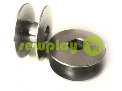 Шпуля для промышленной швейной машины металлическая без надсечки арт 948