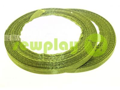 Satin Tape 7mm, color olive, length 25 m