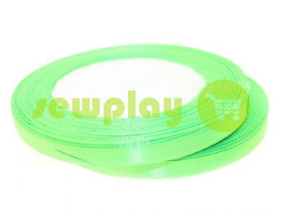 Satin Tape 7mm, color spring green, length 25 m