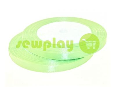 Satin Tape 7mm, color palegreen, length 25 m