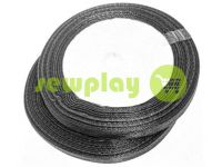 Satin Tape 7mm, color black, length 25 m