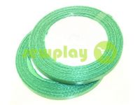 Satin Tape 7mm, color green, length 25 m