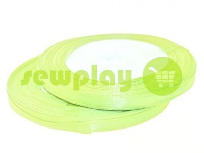 Satin Tape 7mm, color greenyellow, length 25 m