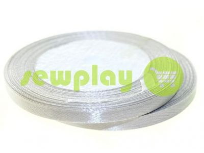 Satin Tape 7mm, color lightgrey, length 25 m