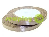 Satin Tape 7mm, color brown, length 25 m