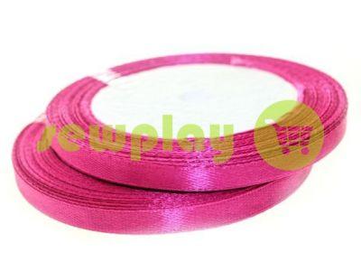 Satin Tape 7mm, color medium violetred, length 25 m