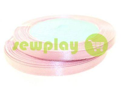Лента атласная 7 мм, цвет розовый, длина 25 м