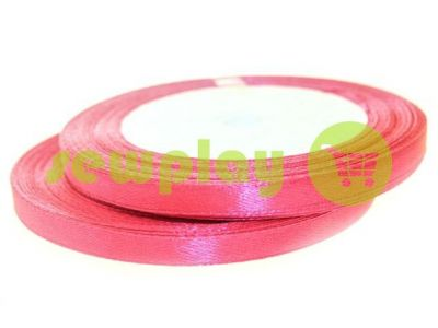 Satin Tape 7mm, color indianred, length 25 m