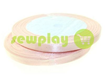 Satin Tape 7mm, color lightpink, length 25 m