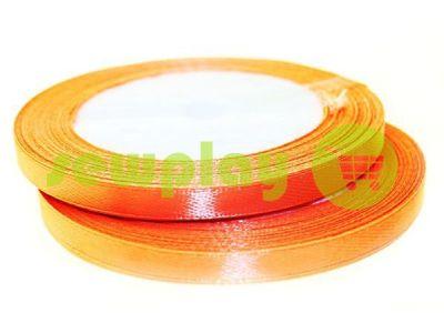 Satin Tape 7mm, color tomato, length 25 m