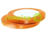 Satin Tape 7mm, color chocolate, length 25 m