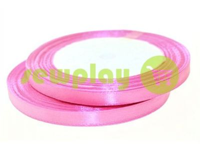Satin Tape 7mm, color hotpink, length 25 m sku 1009