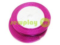 Satin Tape 7mm, color purple, length 25 m