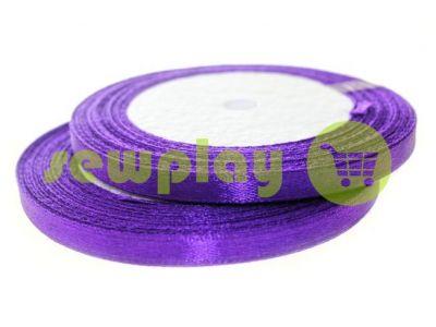 Лента атласная 7 мм, цвет темно-фиолетовый, длина 25 м