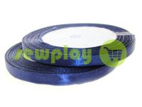 Satin Tape 7mm, color navy, length 25 m