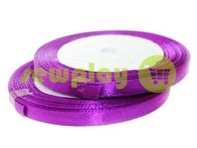 Satin Tape 7mm, color mediumorchid, length 25 m