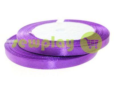 Satin Tape 7mm, color darkorchid, length 25 m