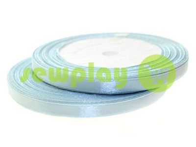 Satin Tape 7mm, color lightskyblue, length 25 m