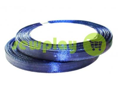 Satin Tape 7mm, color mediumblue, length 25 m