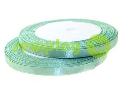 Satin Tape 7mm, color medium aquamarine, length 25 m