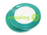 Satin Tape 7mm, color turquoise, length 25 m