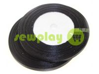 Satin Tape 7mm, color black, length 33 m