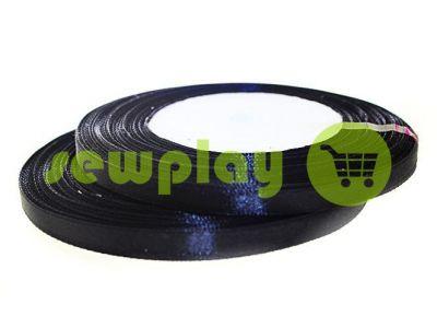 Satin Tape 7mm, color black, length 33 m
