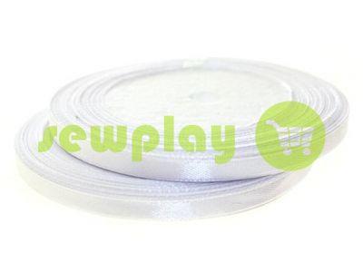 Satin Tape 7mm, color white, length 25 m