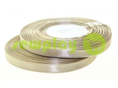 Satin Tape 7mm, color darkbeige, length 33 m