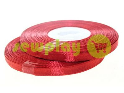 Satin Tape 7mm, color darkred, length 33 m