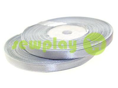 Satin Tape 7mm, color lightgrey, length 33 m