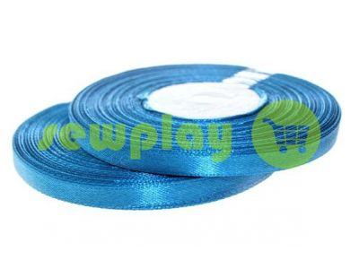 Satin Tape 7mm, color darkcyan, length 33 m