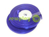 Satin Tape 7mm, color royalblue, length 33 m