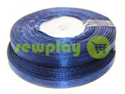 Satin Tape 7mm, color midnightblue, length 33 m
