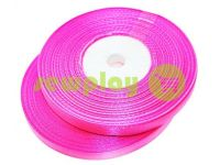 Satin Tape 7mm, color hotpink, length 33 m