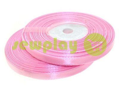 Satin Tape 7mm, color pink, length 33 m