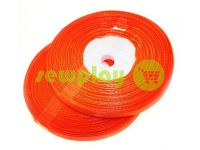 Satin Tape 7mm, color red, length 33 m