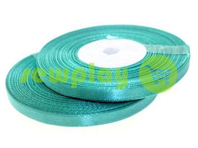 Satin Tape 7mm, color turquoise, length 33 m