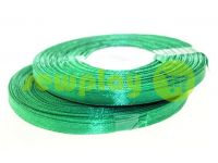 Satin Tape 7mm, color dark green, length 33 m