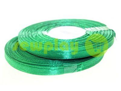 Лента атласная 7 мм, цвет темно-зеленый, длина 33 м