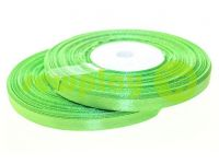 Лента атласная 7 мм, цвет весенней зелени, длина 33 м