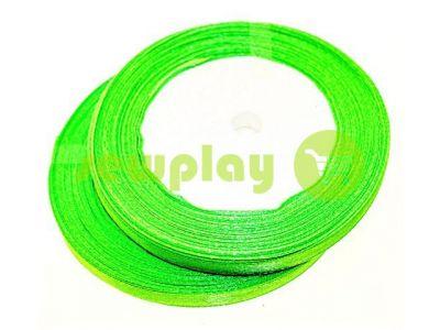 Satin Tape 7mm, color lime, length 25 m