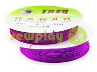 Дріт для бісеру 0.3 мм, довжина 30 м, колір фіолетовий