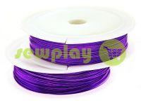 Дріт для бісеру 0.37 мм, довжина 50 м, колір фіолетовий