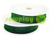 Дріт для бісеру 0.37 мм, довжина 50 м, колір зелений