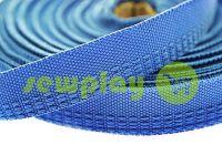 Тесьма брючная 15 мм, цвет голубой