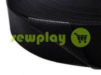 Тесьма усиленная для сумок 20 мм - 50 мм, цвет черный