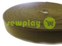 Тесьма усиленная для сумок 20 мм - 50 мм, цвет оливковый