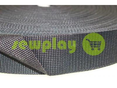 Тесьма усиленная для сумок 20 мм - 50 мм, цвет серый арт 2349